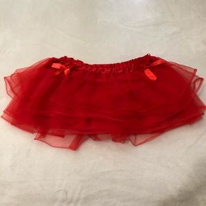 Hot Top Red Tutu with Bows on each side